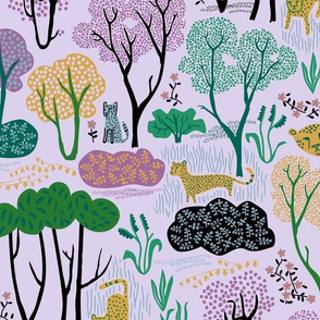 Cheetahs on Lavender