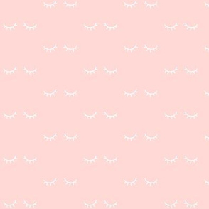 mod baby » just sleepy eyes white on ultra light coral