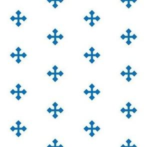 Greek Cross in Blue