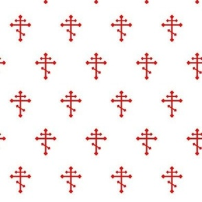 Orthodox Cross in Red