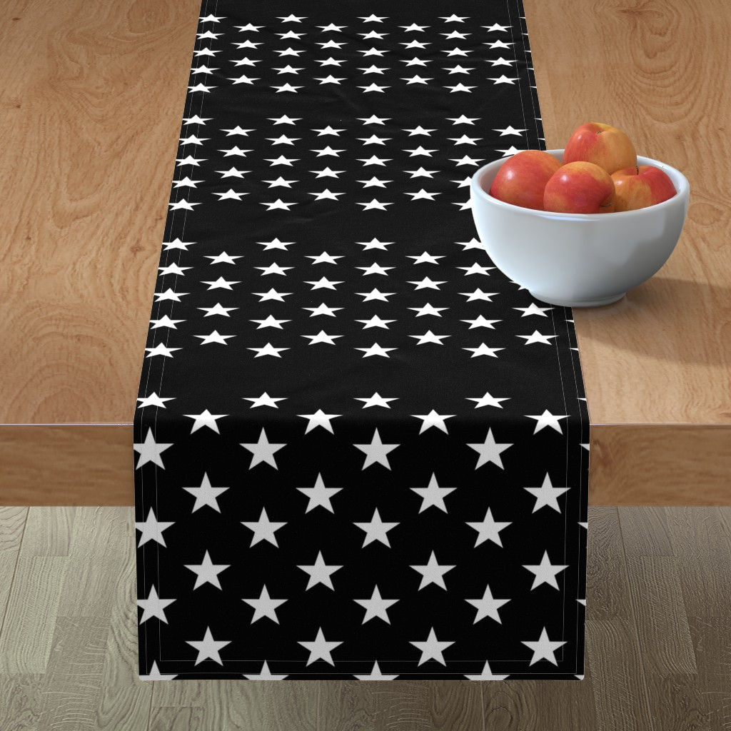 Minorca Table Runner featuring Thin Blue Line flag - black field by renee2181