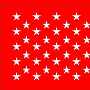 Firefighter flag - red field
