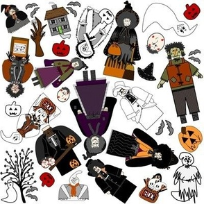 Halloween Ghost Fabric Collection