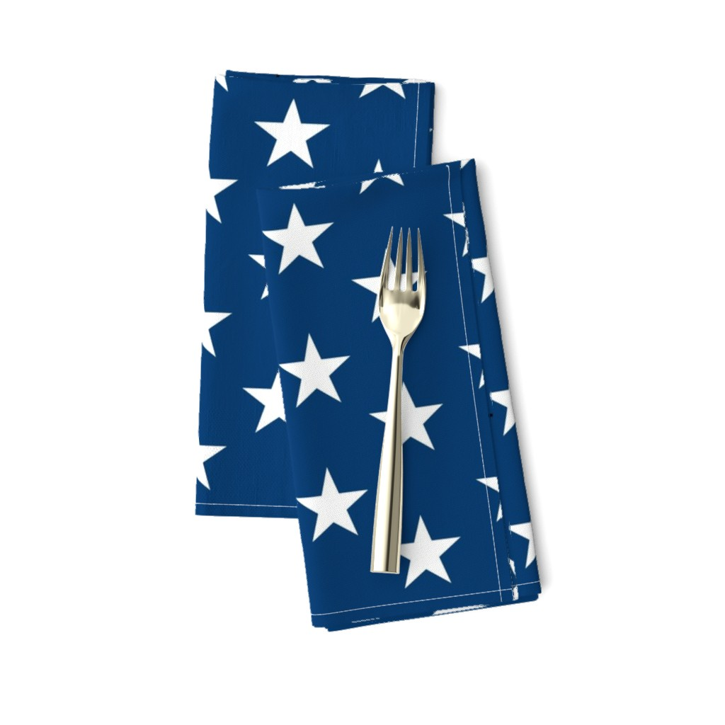 Amarela Dinner Napkins featuring American flag - blue star field by renee2181