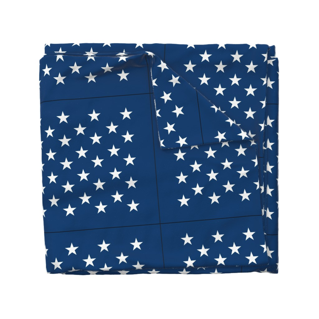 Wyandotte Duvet Cover featuring American flag - blue star field by renee2181