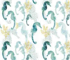 Pointillism Seahorse