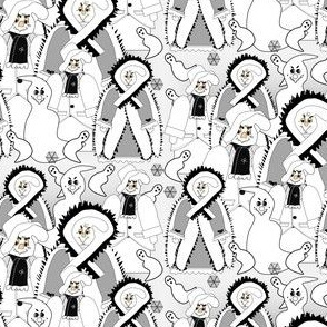 Halloween Be Very Afraid Dennis and Valerie The Proper Lady Ghost Victorian Ghosts Fabric Collection