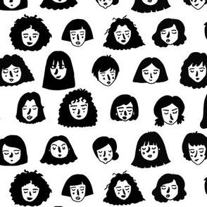 Girls Girls Girls - black and white