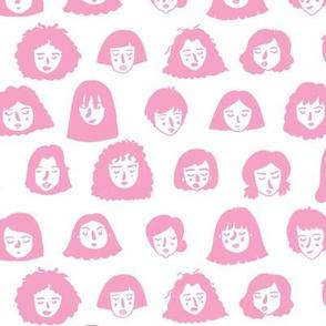 Girls Girls Girls - pink and white