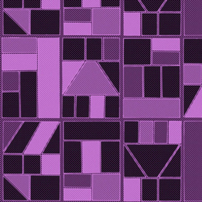 Ben-Day Frames Reverse Purple