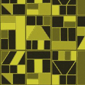 Ben-Day Frames Reverse Yellow