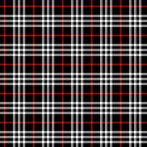 black red tartan style 2