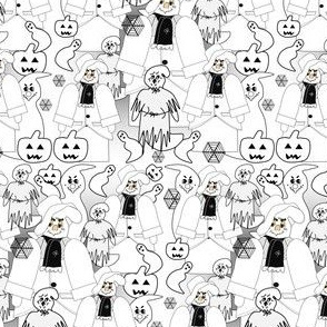 Halloween Be Very Afraid Dennis Victorian Ghosts Fabric Collection