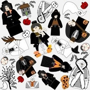 Lady Amanda The Mannerly Witch Halloween Witch Fabric Collection