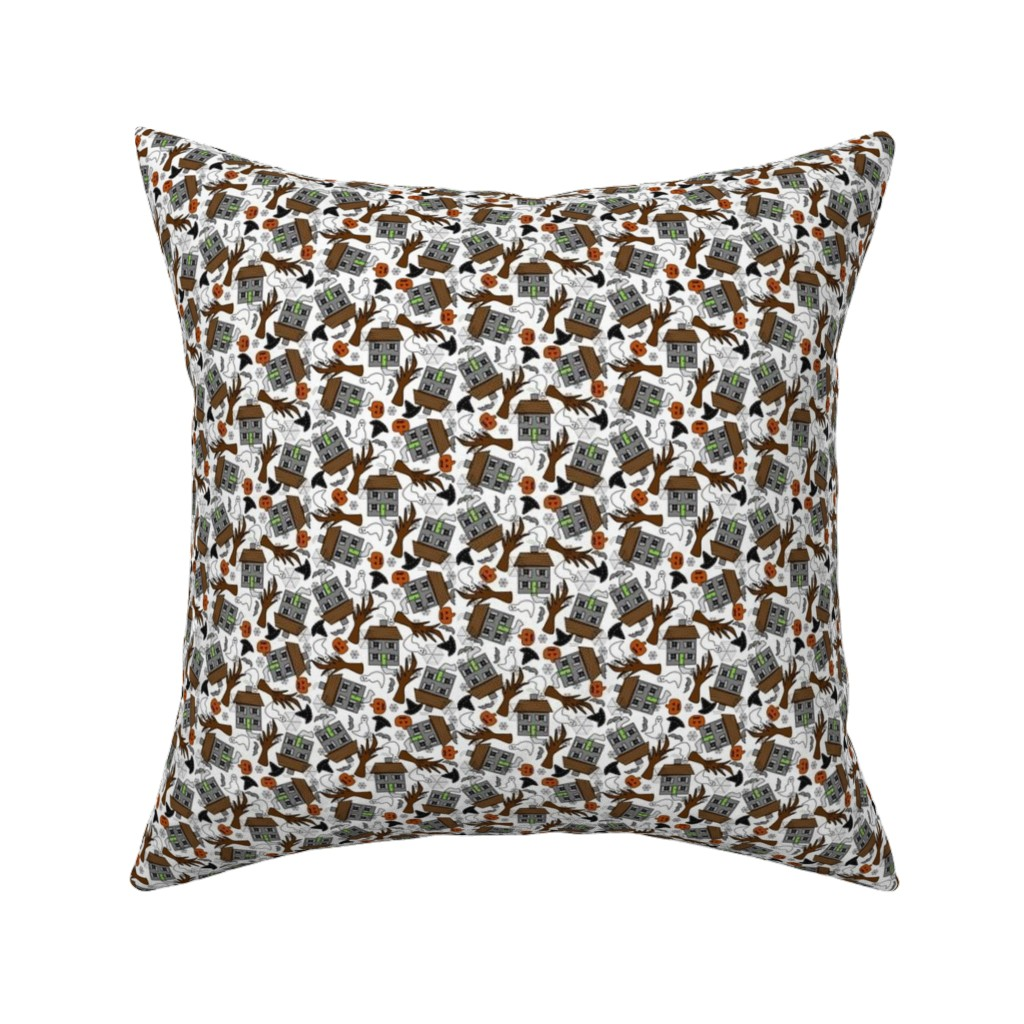 Catalan Throw Pillow featuring Halloween Ichabod I'm Not Afraid Of You Crane Fabric Collection by lworiginals