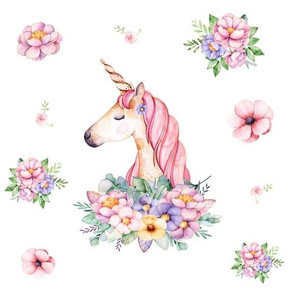 Dreamy Unicorn with Vintage Flowers