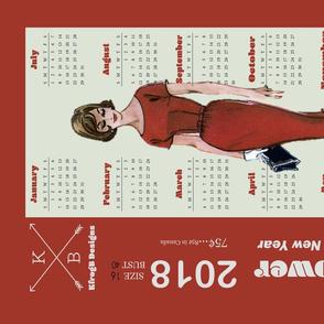 2018_Vintage Dress Pattern_Red