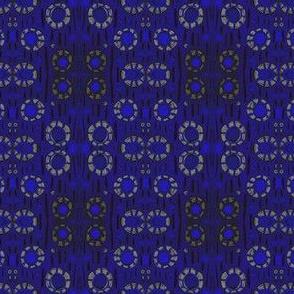 Find The Rabbit, Rustic Floral blue black grey