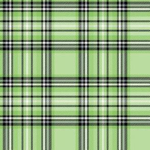 apple green tartan style 1 - 4in repeat