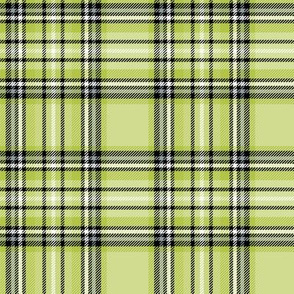 lime green tartan style 1 - 4in repeat