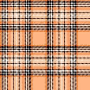 orange tartan style 1 - 4in repeat