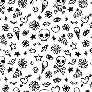 Doodles - black & white
