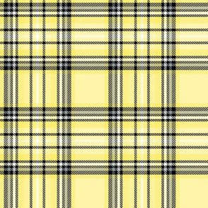 lemon yellow tartan