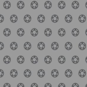 Cogs Pattern Large Grey