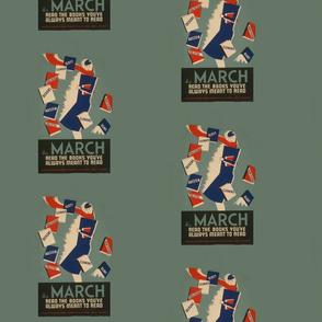 Books in March Woman (WPA)
