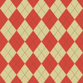 Argyle (red yellow) - 1.5in