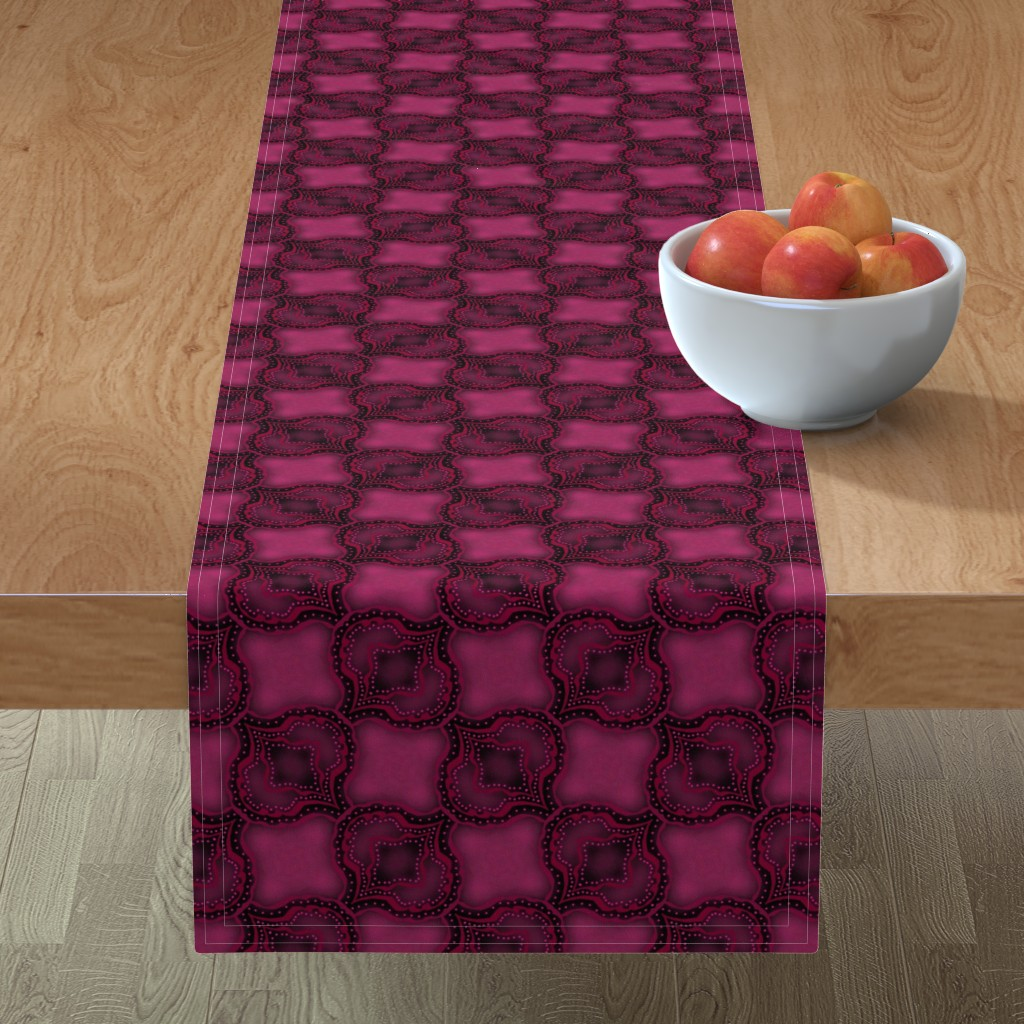 Minorca Table Runner featuring Pink Paisley Inspired by themadcraftduckie