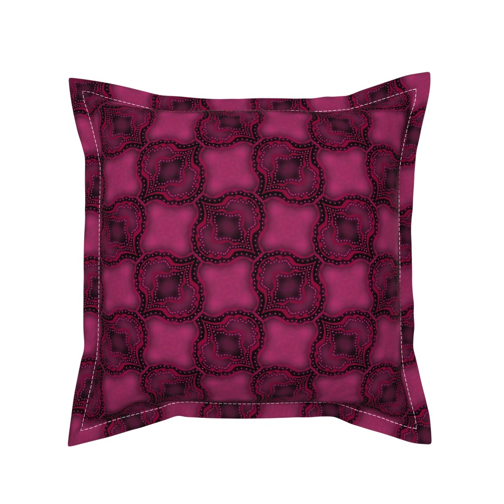 Serama Throw Pillow featuring Pink Paisley Inspired by themadcraftduckie