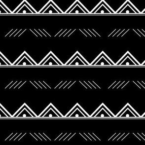 Black and White Geo Stripe