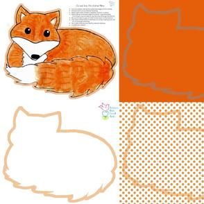 Fox Pillow Fat Quarter Cut and Sew