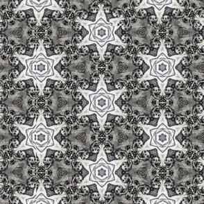 Happy Bones 2 (black and white skull stars)