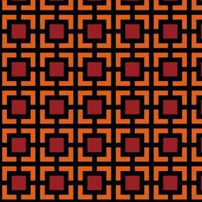 Geometric Pattern: Square Bracket: Red/Orange