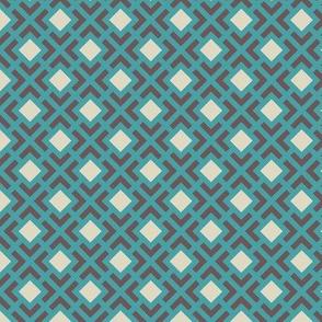 Geometric Pattern: Diamond Bracket: Blue
