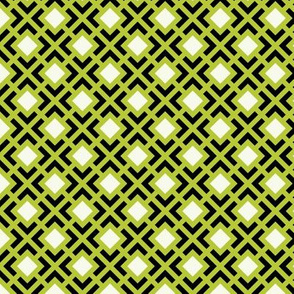 Geometric Pattern: Diamond Bracket: Green