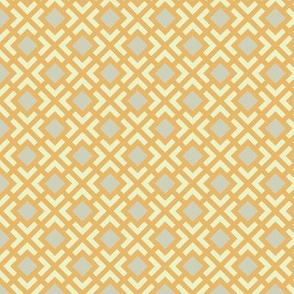 Geometric Pattern: Diamond Bracket: Orange