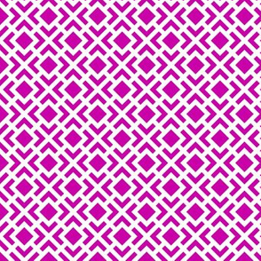 Geometric Pattern: Diamond Bracket: Pink