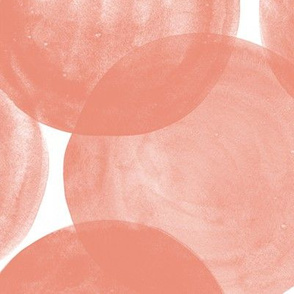 Huge Watercolor Dots M+M Blush by Friztin