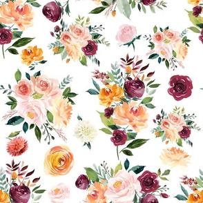 """12"""" Autumn Watercolor Floral"""