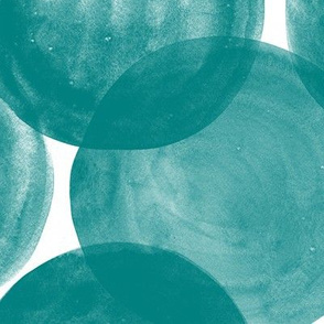 Huge Watercolor Dots M+M Teal by Friztin