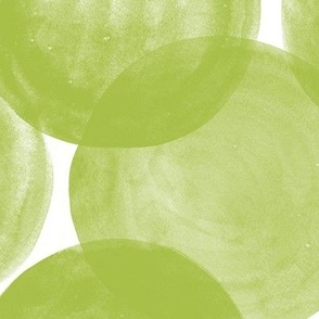 Huge Watercolor Dots M+M Lime by Friztin