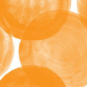 Huge Watercolor Dots M+M Persimmon by Friztin