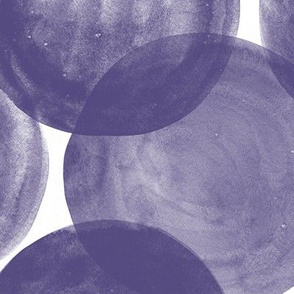Huge Watercolor Dots M+M Royal Purple by Friztin