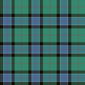 "Sinclair hunting tartan, 6"" muted"