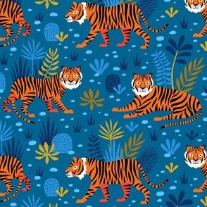 Tiger Jungle blue
