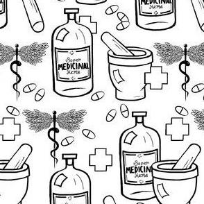 Medical / Hand Drawn Black & White
