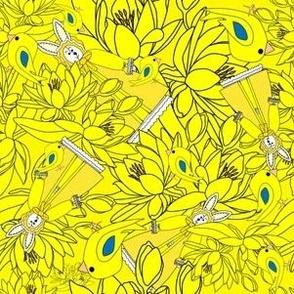 Bernice Me Bunny Victorian Bunny Fabric  Collection